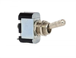 Non Illuminated Toggle Switches-Metal Lever-Single Pole-Off / On - Solder Terminals